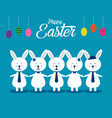 lovely easter bunnies set concept easter vector image vector image