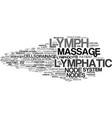 Lymph word cloud concept
