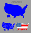 Map of the united states vector | Price: 1 Credit (USD $1)