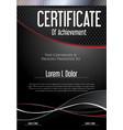 modern black certificate or diploma template vector image