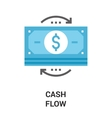 money flow icon concept vector image vector image