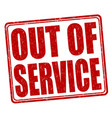 out of service grunge rubber stamp vector image vector image