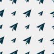 Paper airplane icon sign Seamless pattern with vector image vector image