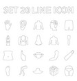 part of the body limb outline icons in set vector image
