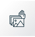 photo presentation icon line symbol premium vector image vector image
