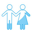 pictogram couple icon imag vector image vector image