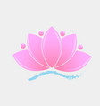 pink lotus plant vector image vector image
