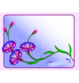 Postcard background with flowers and