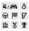 race icons vector image vector image