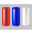 realistic cans beer or energy drink aluminium vector image
