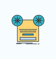record recording retro tape music flat icon green vector image