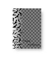 rectangular pattern with bats vector image