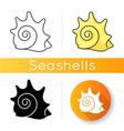 rock shell icon vector image vector image