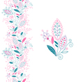 Seamless floral border and small bouquet vector image