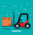 shipping logistics design vector image vector image