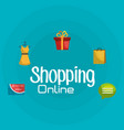 shopping online set icons vector image vector image