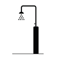 shower black icon vector image vector image