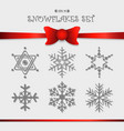 snowflakes icon set design for christmas vector image