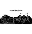 spain las palmas architecture city skyline vector image vector image