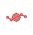 stats target logo icon design vector image vector image