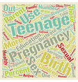 Teenage Pregnancy text background wordcloud vector image vector image