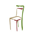 tricolor stylized chair icon 10 eps vector image vector image