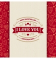 Valentines Day Typography Greeting Card over vector image vector image