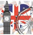 visit london travel vector image vector image