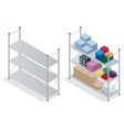 Warehouse interior Storehouse goods Empty vector image