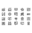 Web Development Line Icon Set vector image vector image
