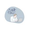work mental stress frustration fatigue vector image