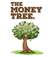 Money grows on tree vector image
