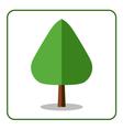 Oak poplar tree icon flat design vector image