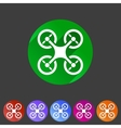 Quadrocopter flat icon sign symbol logo label set vector image