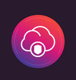 secure cloud icon vector image