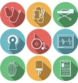 Flat icons for reanimation vector image