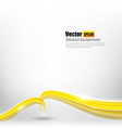 Abstract background Ligth gold curve and wave vector image vector image