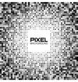 Abstract dark gray pixel background vector image vector image