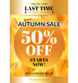 Autumn sale flyer vector image vector image