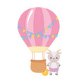 baby shower little sheep with duck and air vector image vector image
