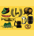 beer element set in color version vector image vector image