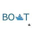 boat logo vector image vector image