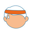 boy face cartoon vector image vector image