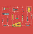 carpentry professional service infographic concept vector image vector image