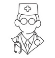 cartoon image of doctor icon physician symbol vector image vector image