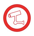 cctv security sistem icon vector image vector image