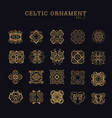 celtic ornament collection set vector image