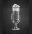 chalk sketch of beer glass vector image