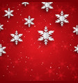 christmas background with 3d style paper vector image vector image
