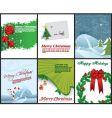 christmas flyers vector image vector image
